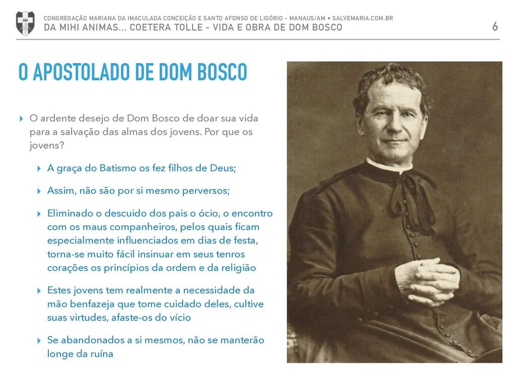 ▸ O ardente desejo de Dom Bosco de doar sua vid...
