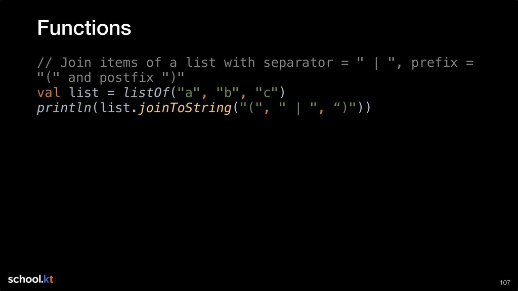 """!107 // Join items of a list with separator = """"..."""