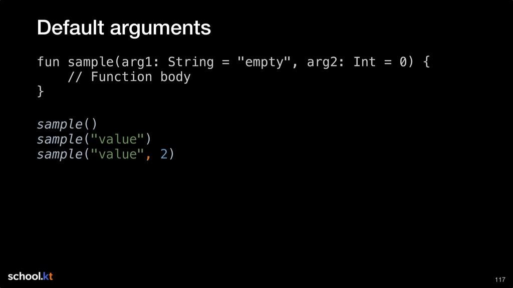 "!117 fun sample(arg1: String = ""empty"", arg2: I..."