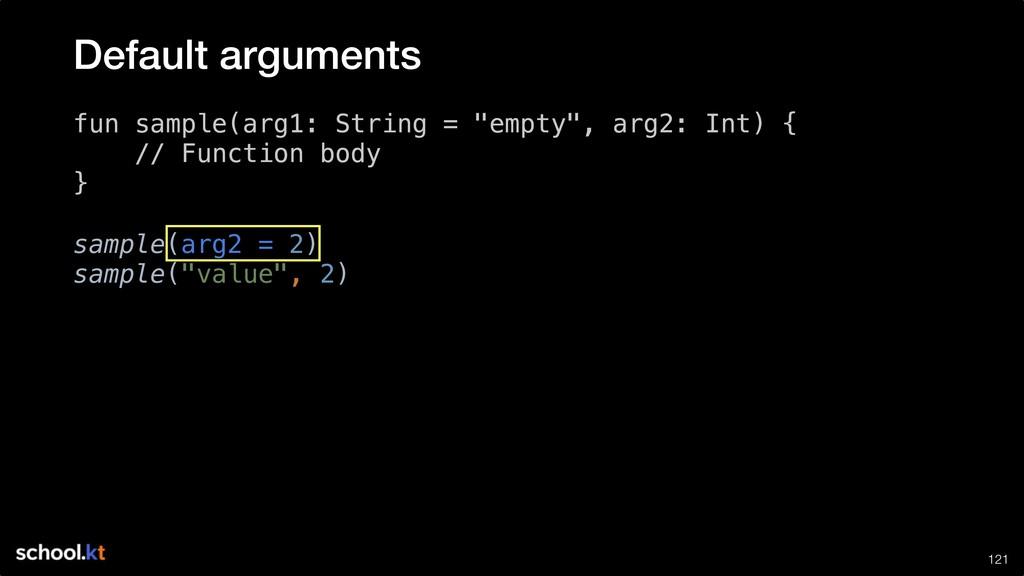 "!121 fun sample(arg1: String = ""empty"", arg2: I..."