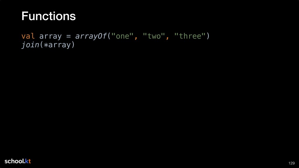 """!129 val array = arrayOf(""""one"""", """"two"""", """"three"""")..."""