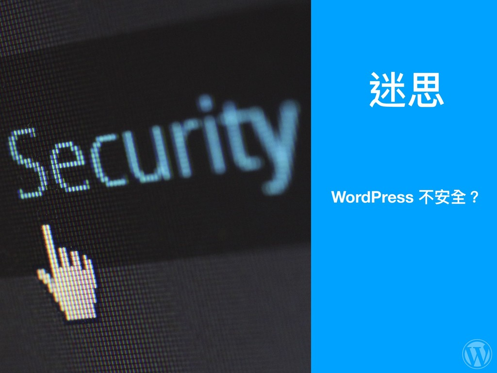 迷思 WordPress 不安全?
