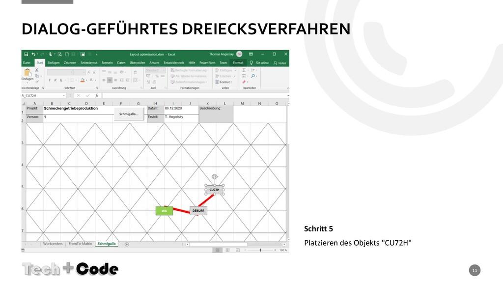 DIALOG-GEFÜHRTES DREIECKSVERFAHREN 11 Schritt 5...
