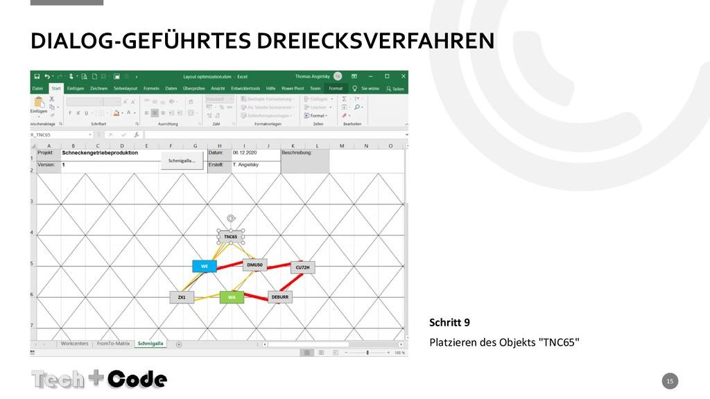 DIALOG-GEFÜHRTES DREIECKSVERFAHREN 15 Schritt 9...