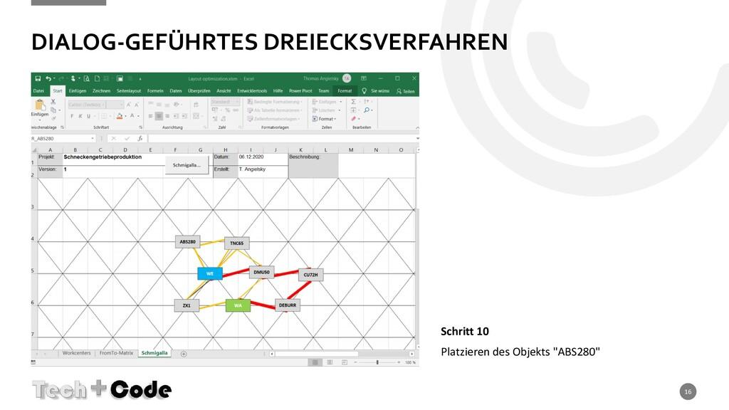 DIALOG-GEFÜHRTES DREIECKSVERFAHREN 16 Schritt 1...