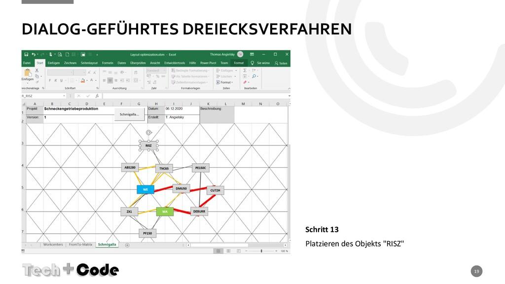 DIALOG-GEFÜHRTES DREIECKSVERFAHREN 19 Schritt 1...