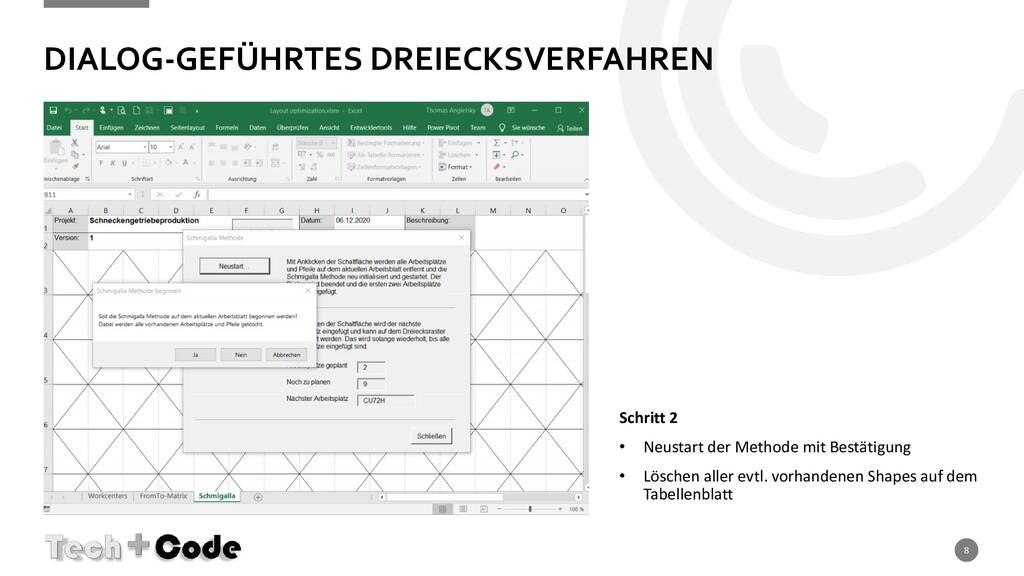DIALOG-GEFÜHRTES DREIECKSVERFAHREN 8 Schritt 2 ...