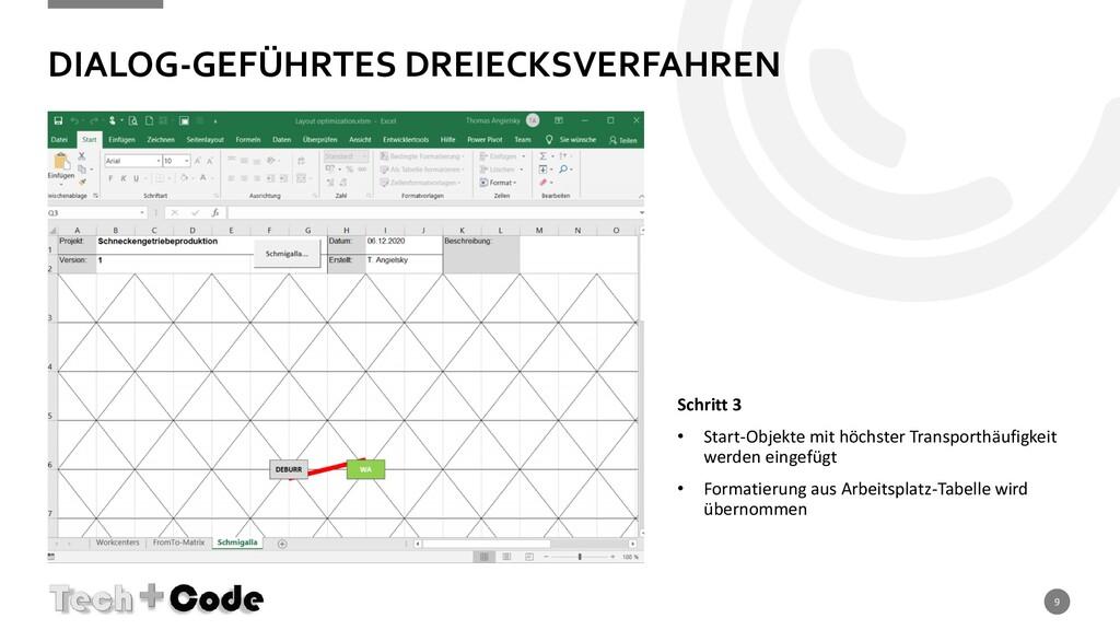 DIALOG-GEFÜHRTES DREIECKSVERFAHREN 9 Schritt 3 ...