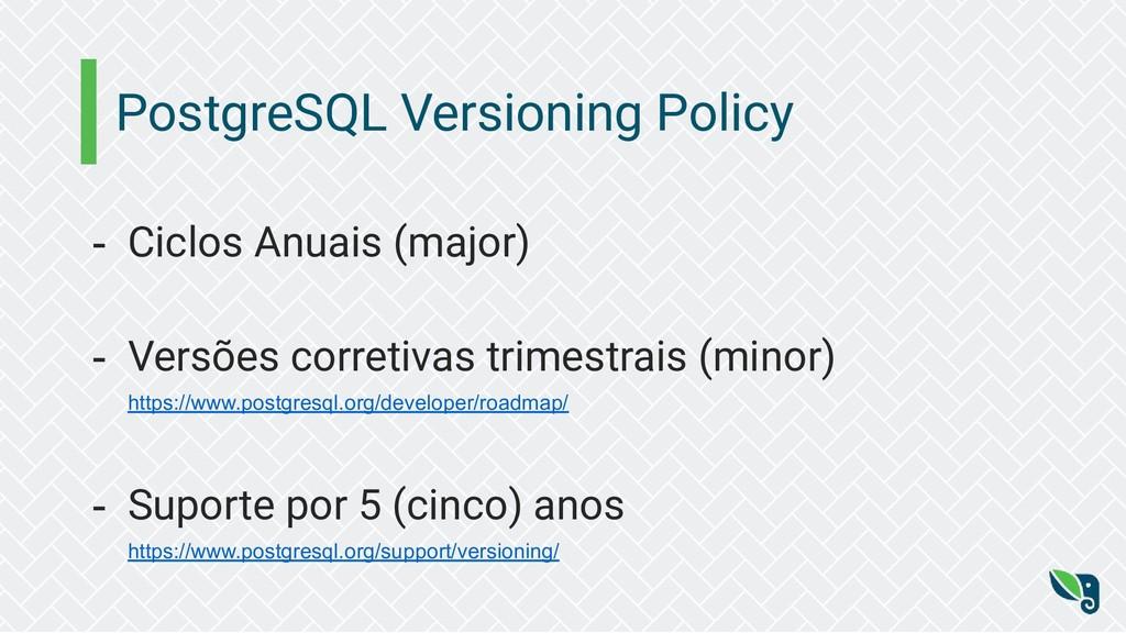 PostgreSQL Versioning Policy - Ciclos Anuais (m...
