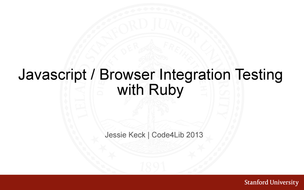 Javascript / Browser Integration Testing with R...