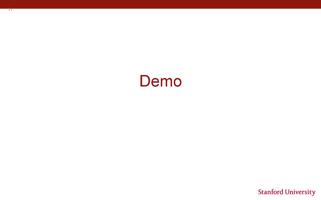 11 Demo