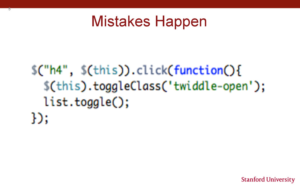 5 Mistakes Happen