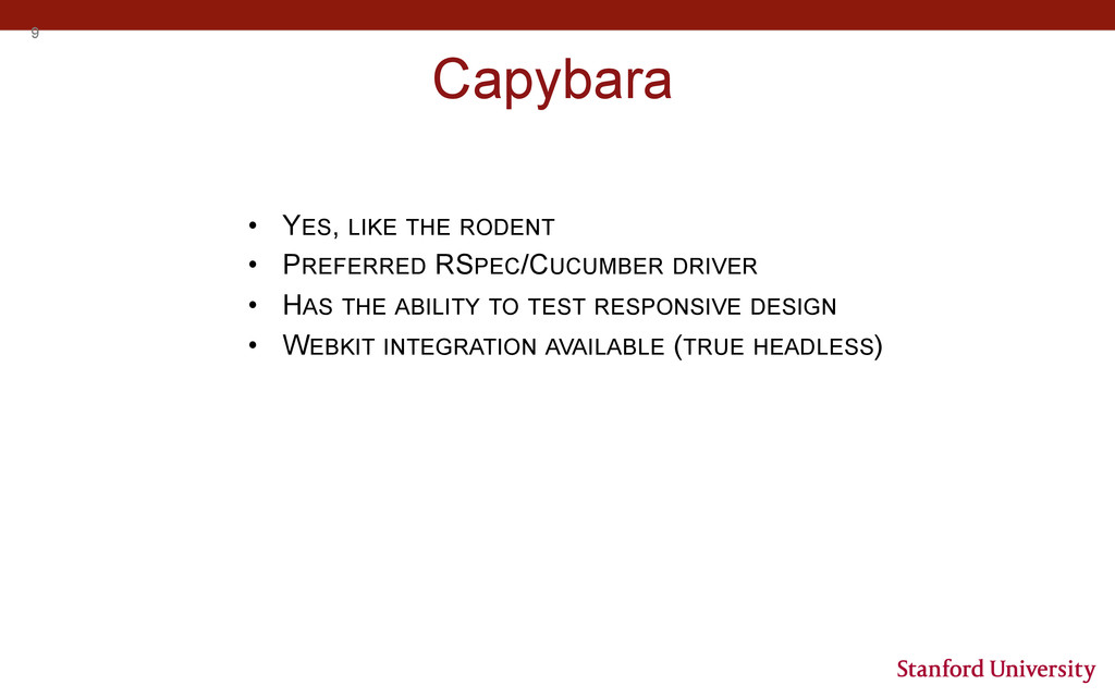 9 Capybara • YES, LIKE THE RODENT • PREFERRED...