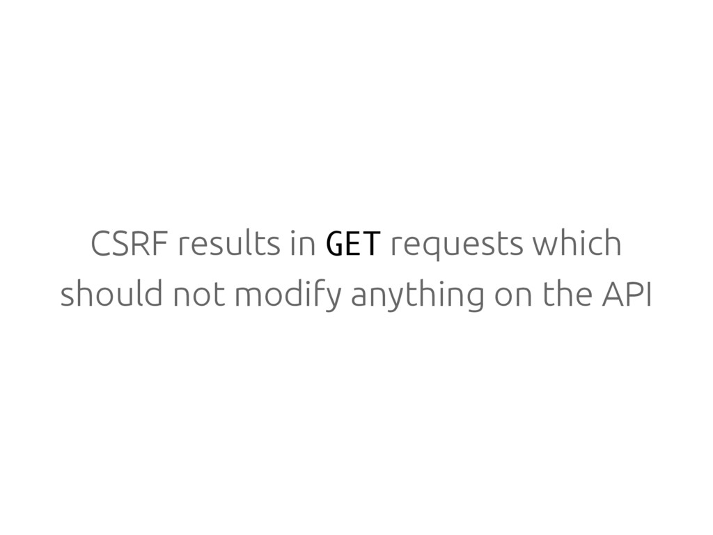CSRF results in GET requests which should not m...