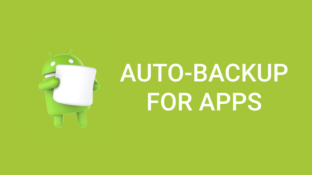 AUTO-BACKUP FOR APPS