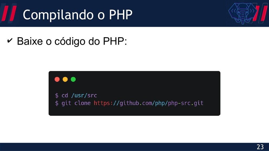 Globalcode – Open4education 23 Compilando o PHP...