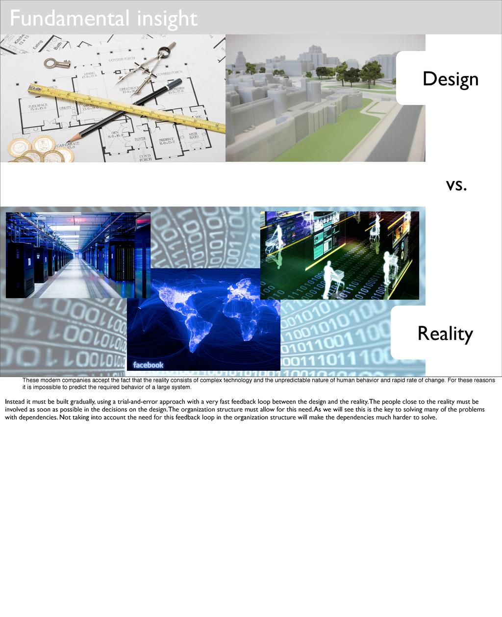 Design Reality Fundamental insight vs. These mo...