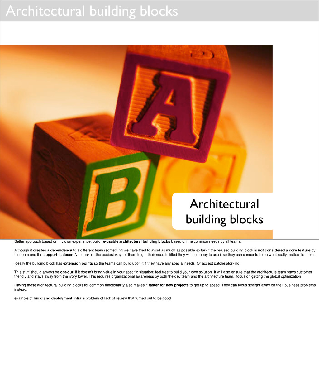 Architectural building blocks Architectural bui...