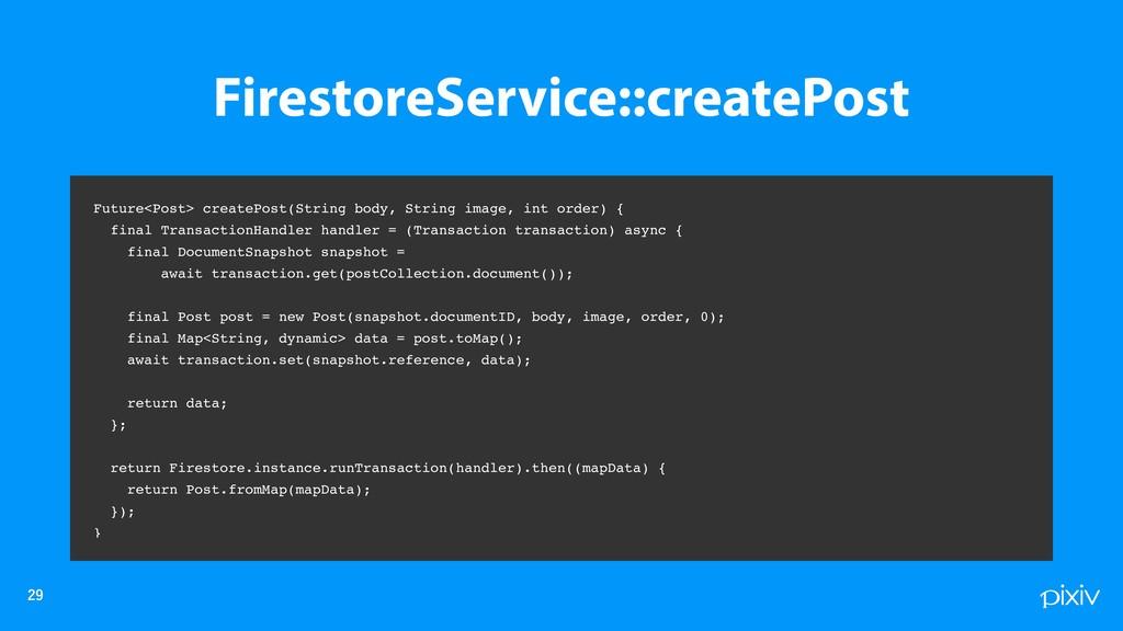 Future<Post> createPost(String body, Strin...