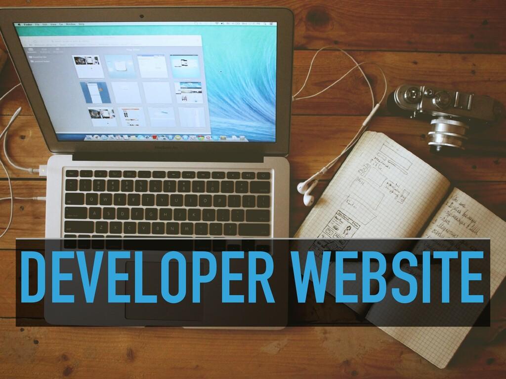 DEVELOPER WEBSITE