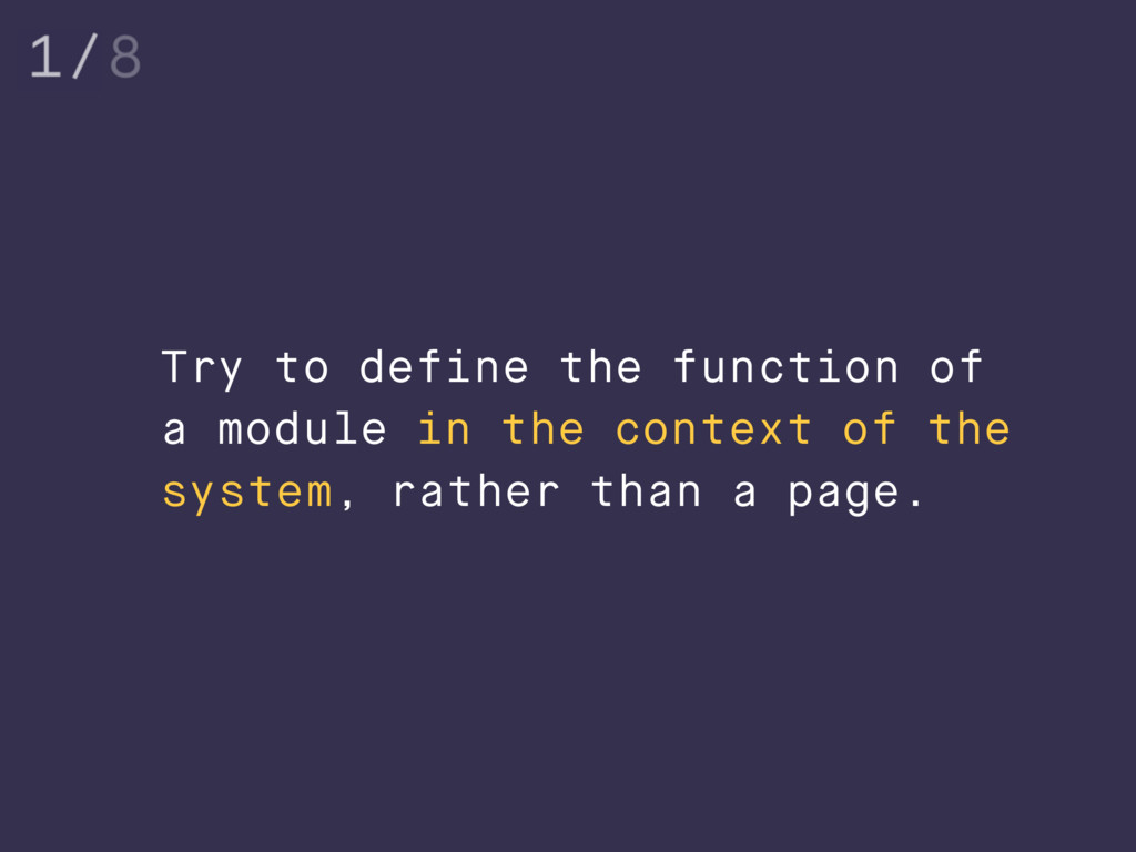 Try to define the function of a module in the c...