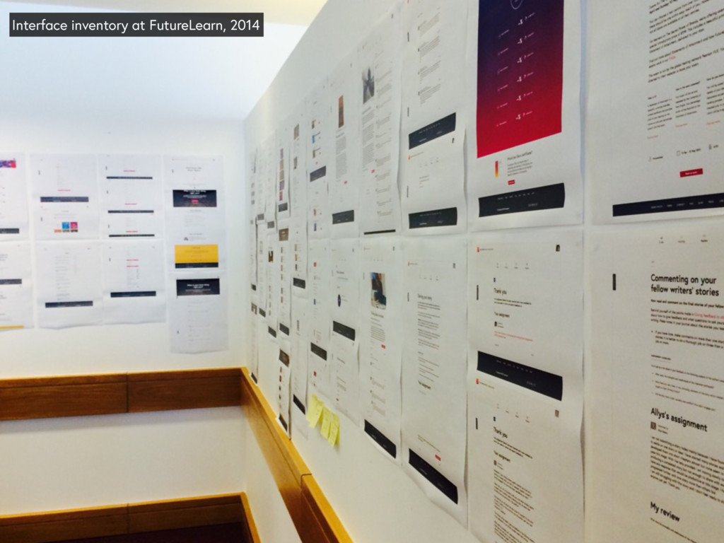 Interface inventory at FutureLearn, 2014