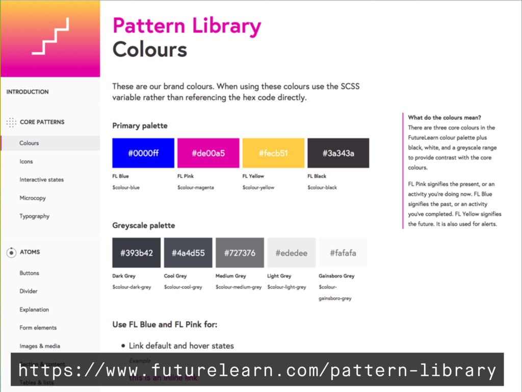 https://www.futurelearn.com/pattern-library