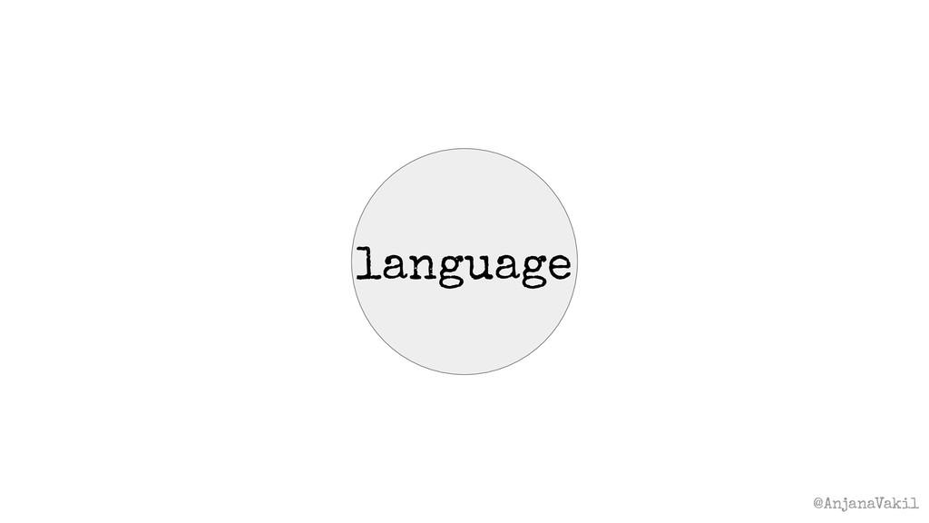 @AnjanaVakil language