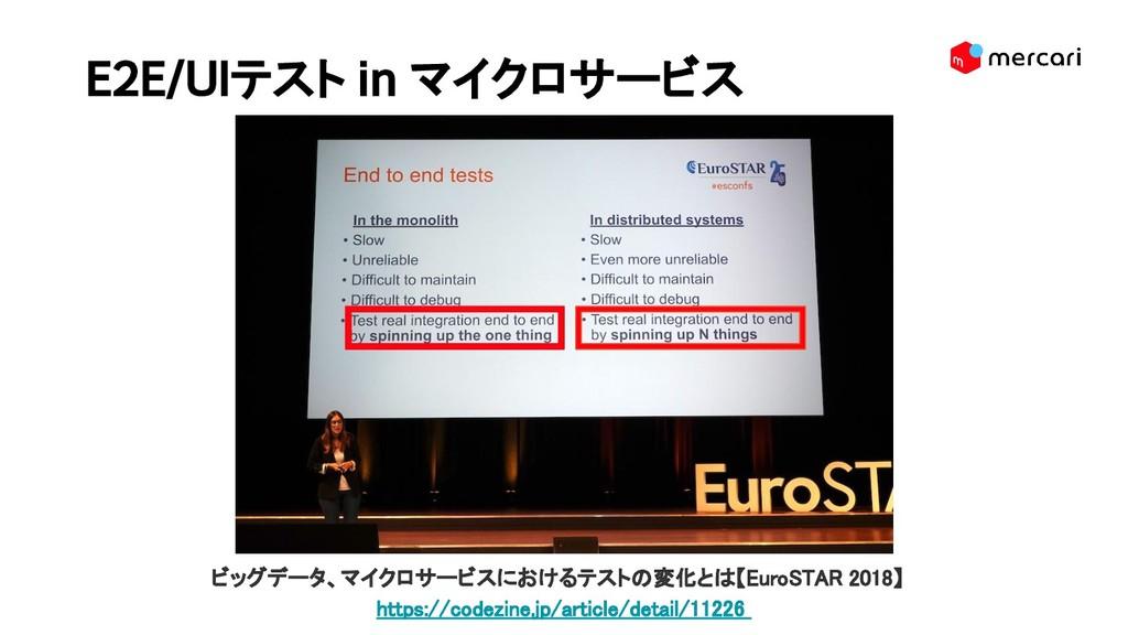 E2E/UIテスト in マイクロサービス  ビッグデータ、マイクロサービスにおけるテストの...