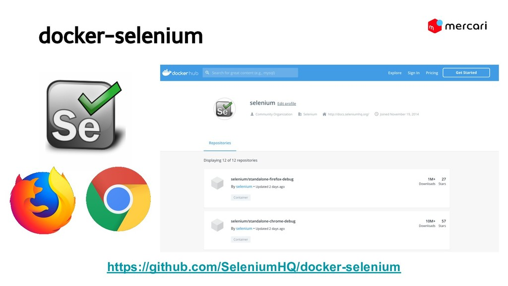docker-selenium https://github.com/SeleniumHQ/...