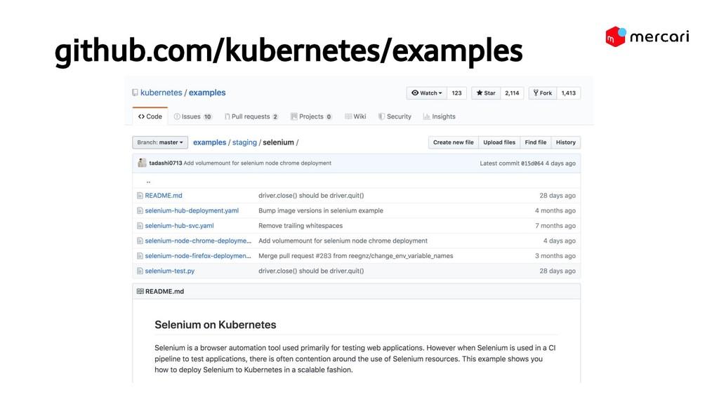 github.com/kubernetes/examples