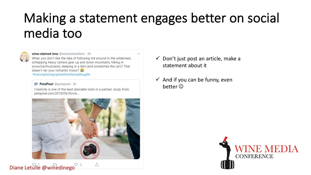 Making a statement engages better on social med...