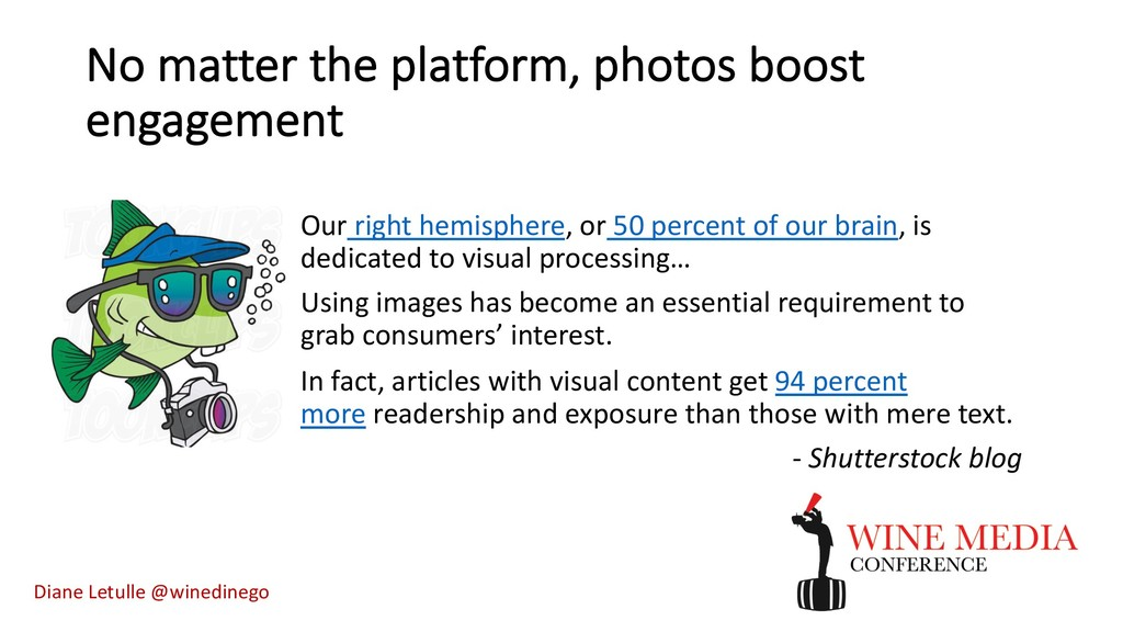 No matter the platform, photos boost engagement...
