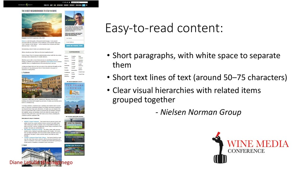 Easy-to-read content: • Short paragraphs, with ...