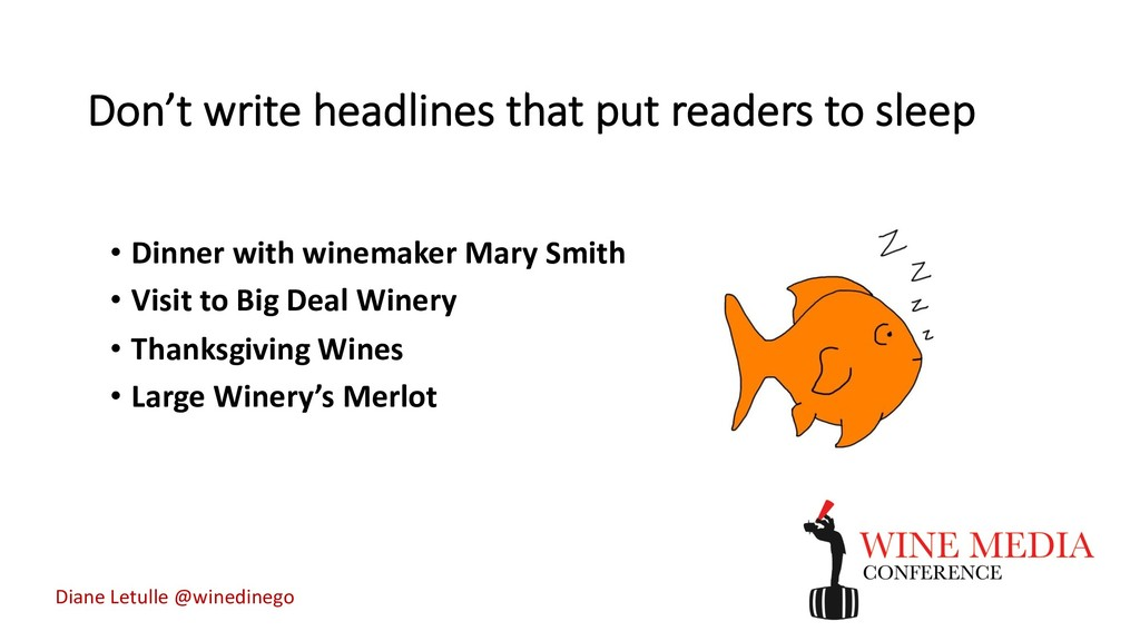 Don't write headlines that put readers to sleep...