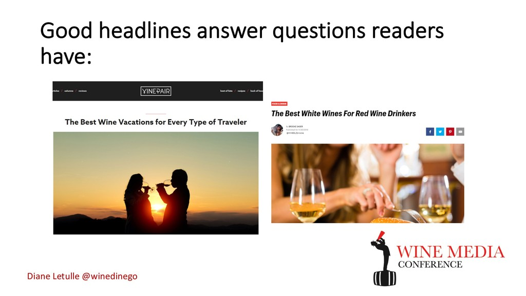 Good headlines answer questions readers have: D...