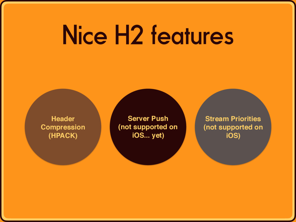 Nice H2 features Header Compression (HPACK) Ser...