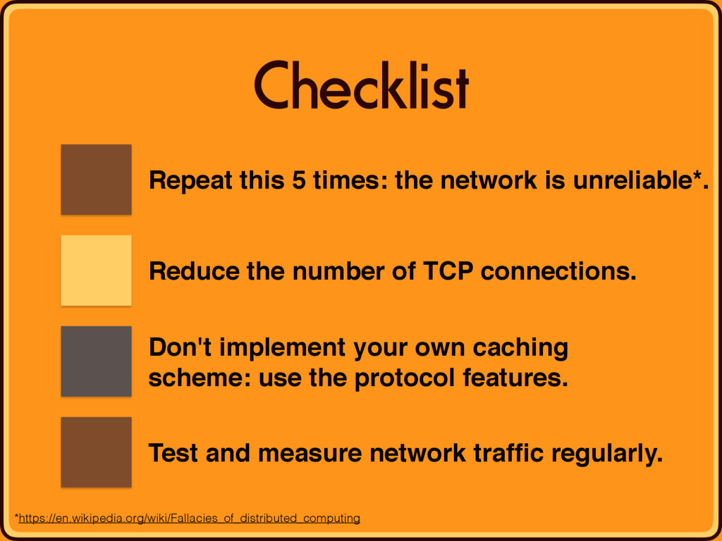Checklist Repeat this 5 times: the network is u...