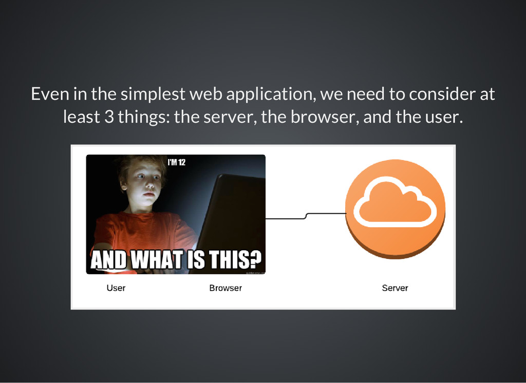 Even in the simplest web application, we need t...