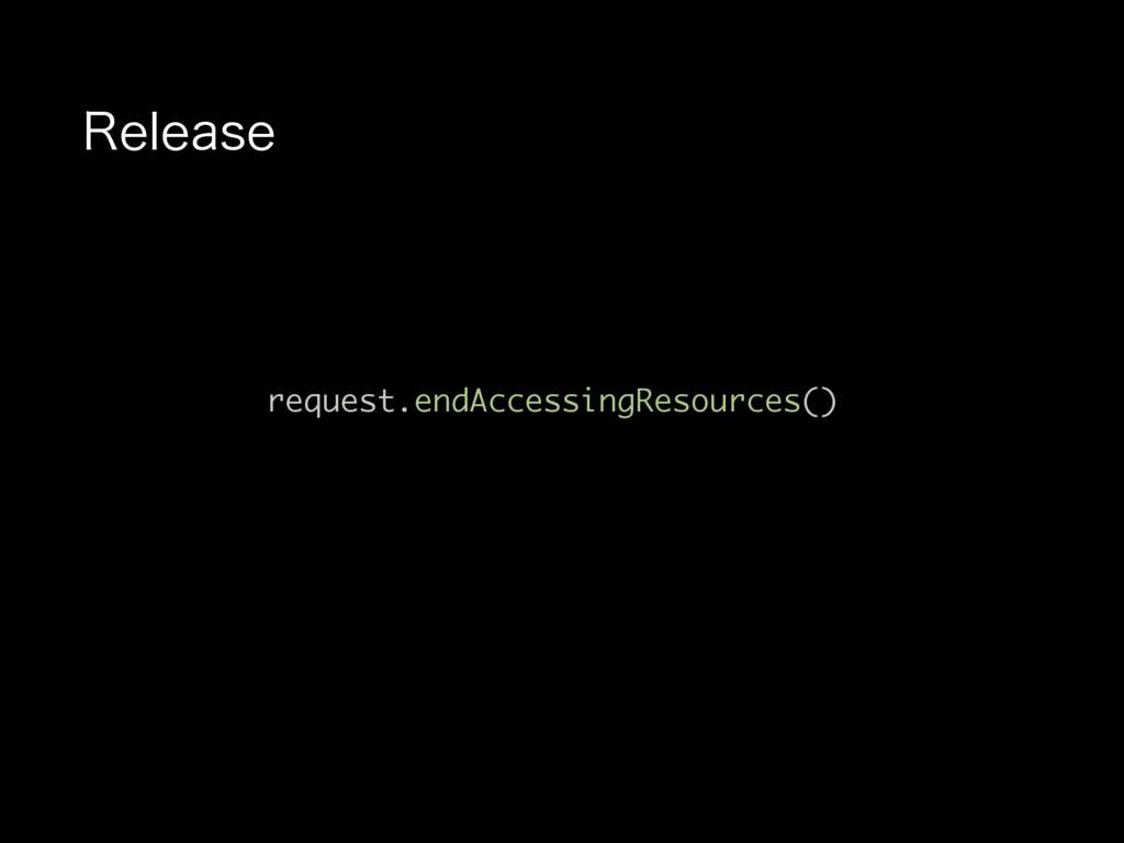 3FMFBTF request.endAccessingResources()
