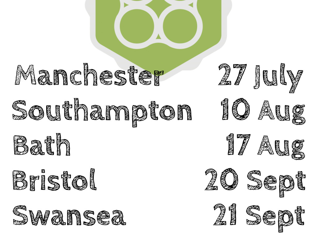 Manchester 27 July Southampton 10 Aug Bath 17 A...