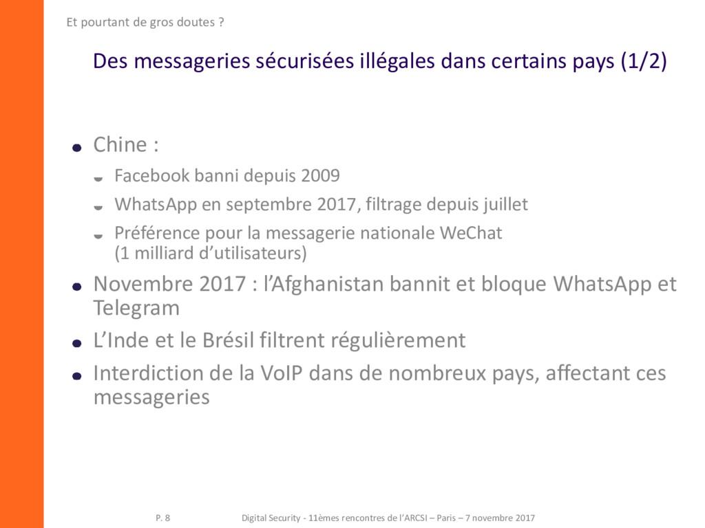Des messageries sécurisées illégales dans certa...