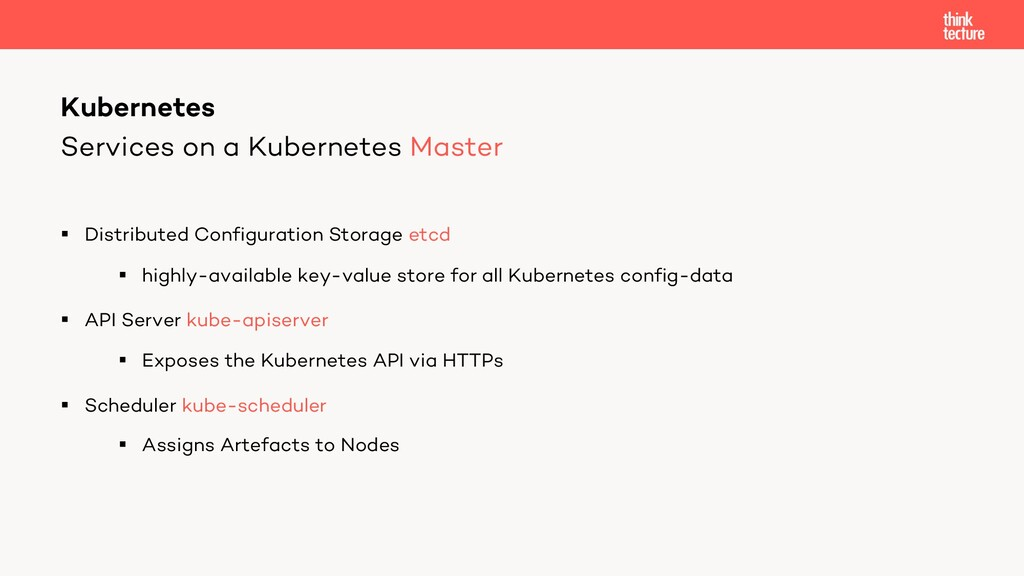 Services on a Kubernetes Master § Distributed C...