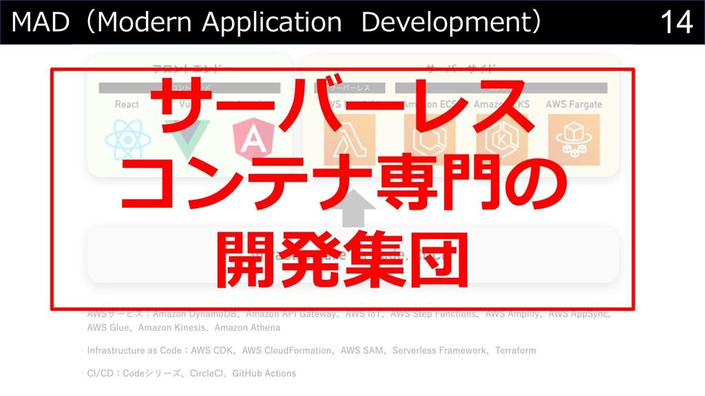 14 MAD(Modern Application Development) サーバーレス コ...