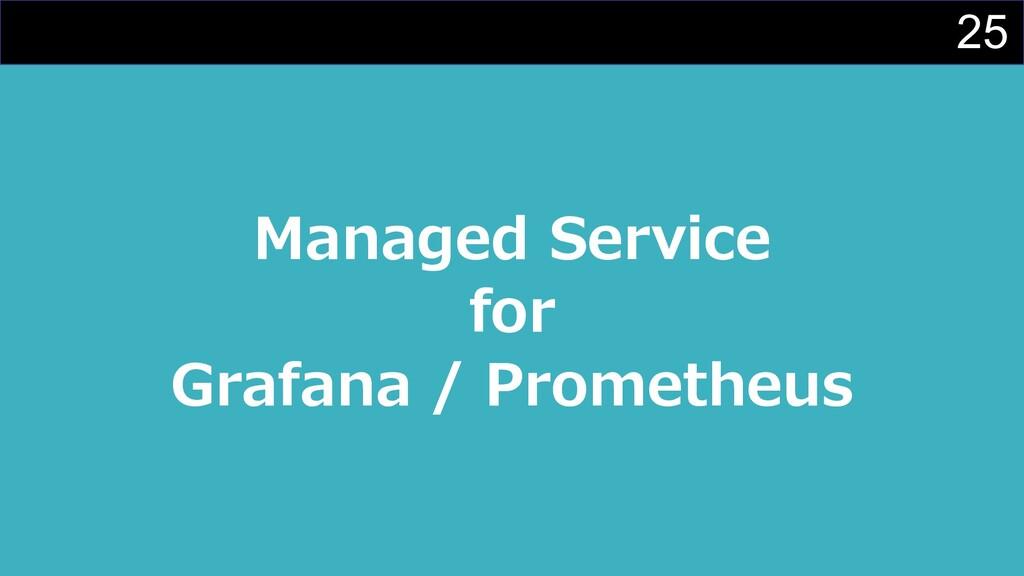 25 Managed Service for Grafana / Prometheus