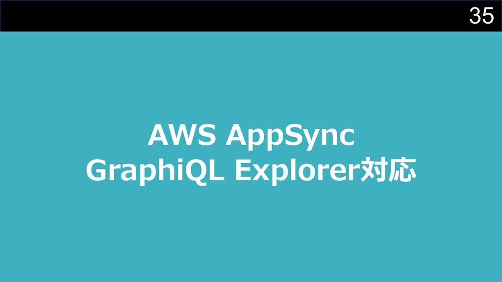 35 AWS AppSync GraphiQL Explorer対応