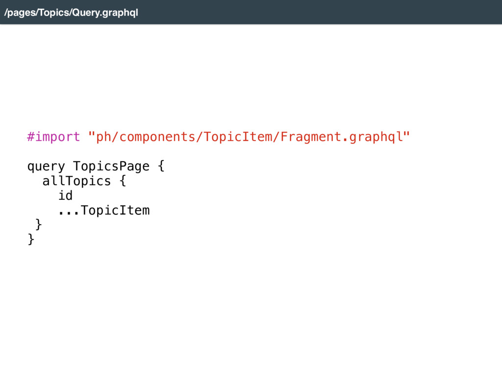 "#import ""ph/components/TopicItem/Fragment.graph..."