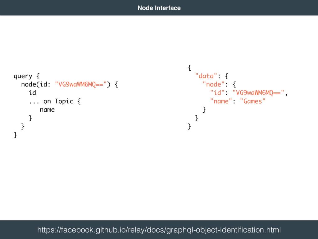 "query { node(id: ""VG9waWM6MQ=="") { id ... on..."