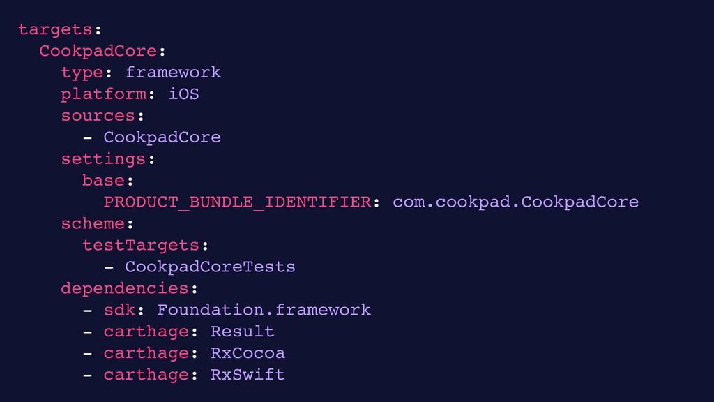 23 targets: CookpadCore: type: framework platfo...