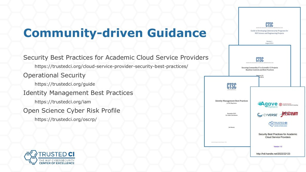 Community-driven Guidance Security Best Practic...